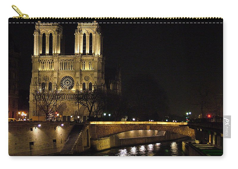 Two Carry-all Pouch featuring the photograph Two Towers Of Notre Dame by Donna Corless