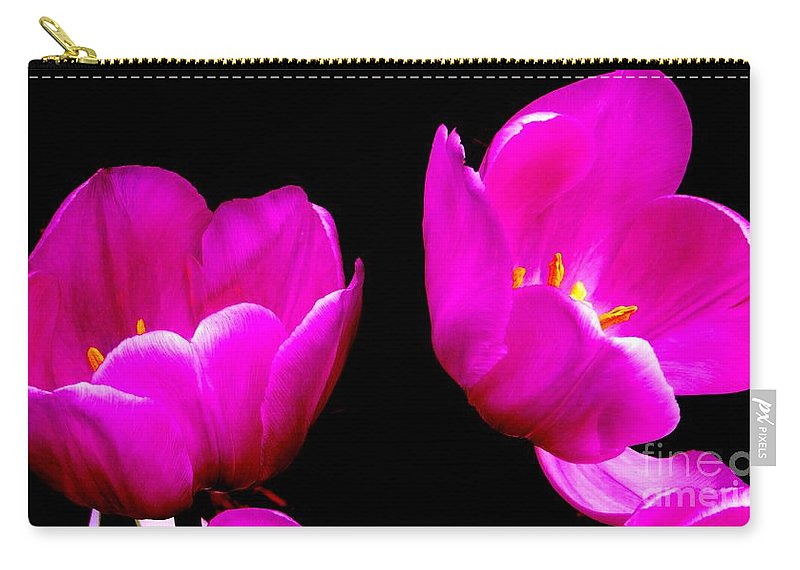 Two Tulips Carry-all Pouch featuring the photograph Two Tulips by Tim Townsend