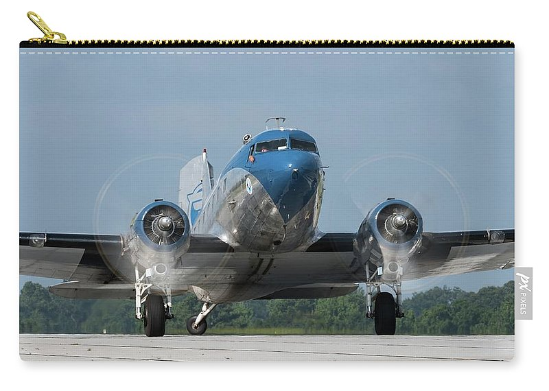 Airshow Carry-all Pouch featuring the photograph Two Turning - 2017 Christopher Buff, Www.aviationbuff.com by Chris Buff