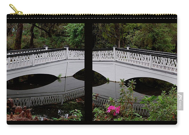 Bridges Carry-all Pouch featuring the digital art Two Viewpoints by DigiArt Diaries by Vicky B Fuller