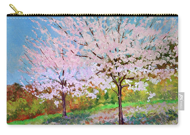 Landscape Carry-all Pouch featuring the painting Two Yoshinos by Keith Burgess