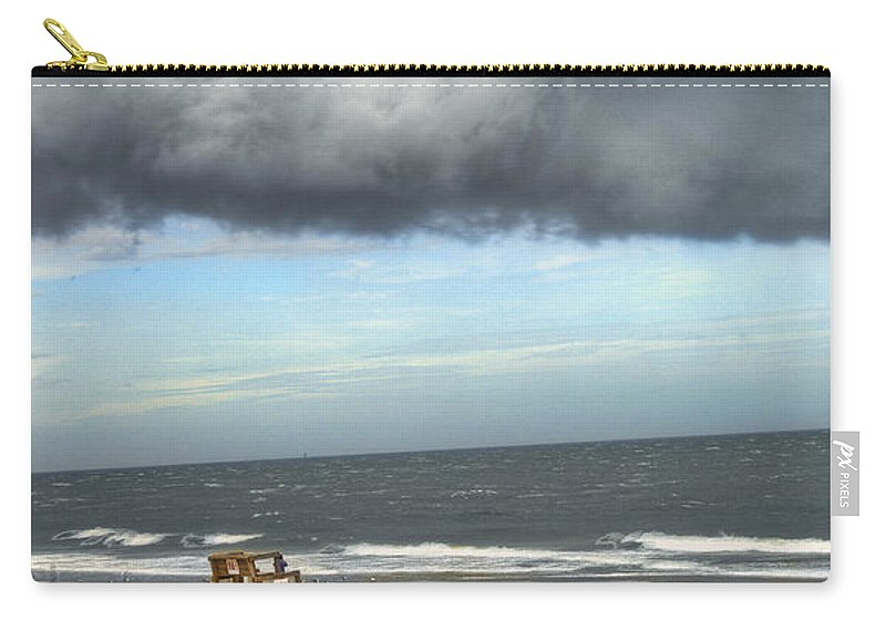 Hdr Carry-all Pouch featuring the photograph Tybee Island Storm by Tammy Wetzel