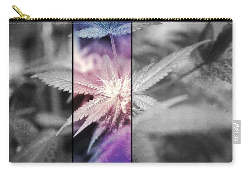 Cannabis Carry-all Pouch featuring the photograph Tye-dye Bud by Erin Hayes