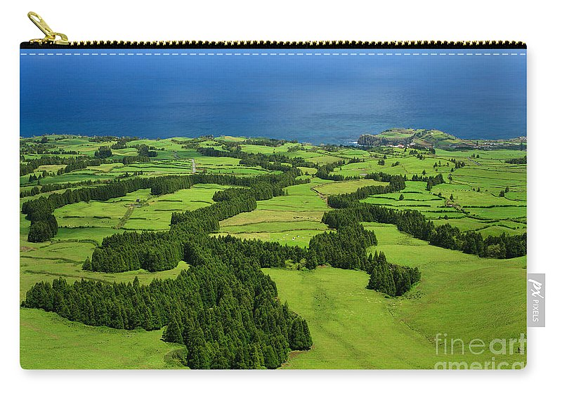 Landscape Carry-all Pouch featuring the photograph Typical Azores Islands Landscape by Gaspar Avila