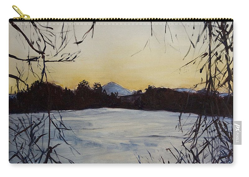 Landscape Carry-all Pouch featuring the painting U Nas Doma by Pablo de Choros