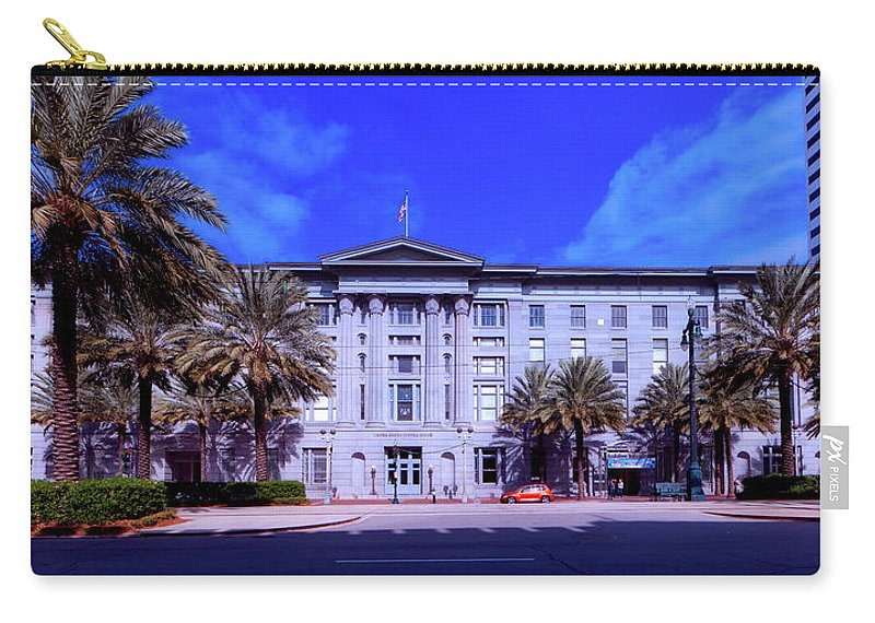 New Orleans Carry-all Pouch featuring the photograph U S Custom House - New Orleans by Mountain Dreams