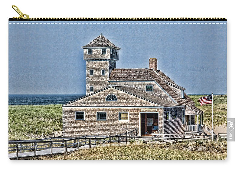 Cape Cod Carry-all Pouch featuring the photograph U S Lifesaving Station by Stephen Stookey