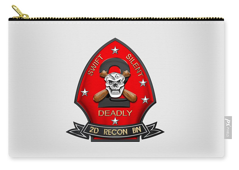 bea60b18 U S M C 2nd Reconnaissance Battalion - 2nd Recon Bn Insignia Over White  Leather Carry-all Pouch for Sale by Serge Averbukh