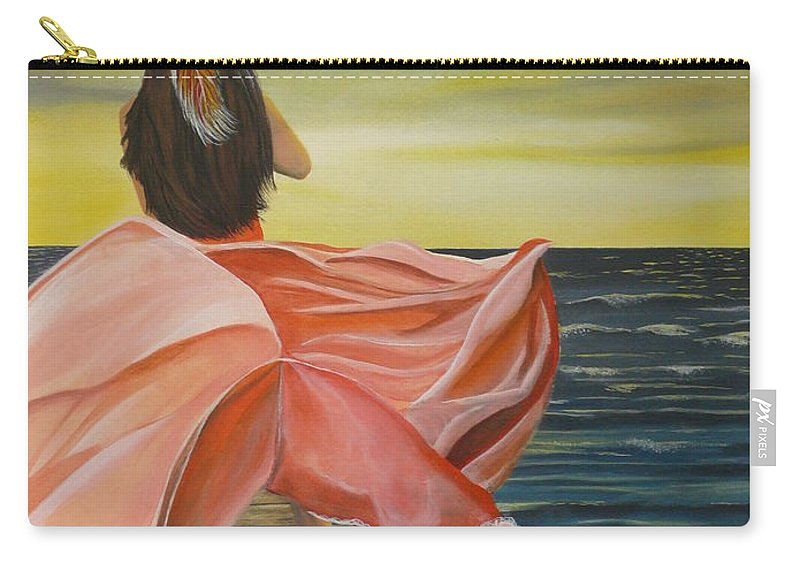 Sunset Carry-all Pouch featuring the painting Uhane O Ka Welo by Kris Crollard