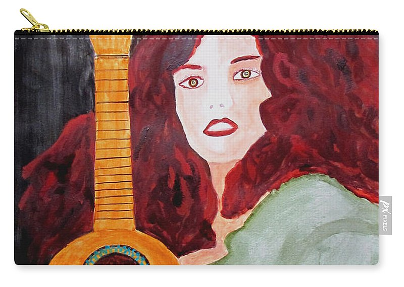 Watercolor Carry-all Pouch featuring the painting Uke by Sandy McIntire