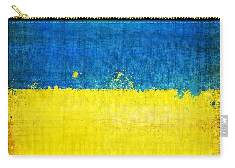 Chalk Carry-all Pouch featuring the painting Ukraine Flag by Setsiri Silapasuwanchai