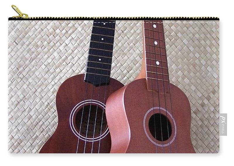 Mary Deal Carry-all Pouch featuring the photograph Ukulele Duet by Mary Deal