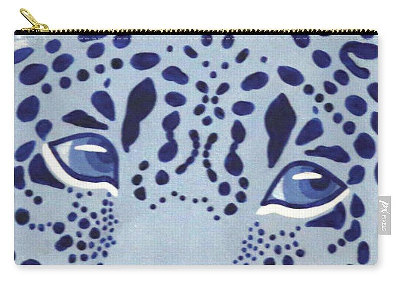 Ultramarine Jaguar Carry-all Pouch