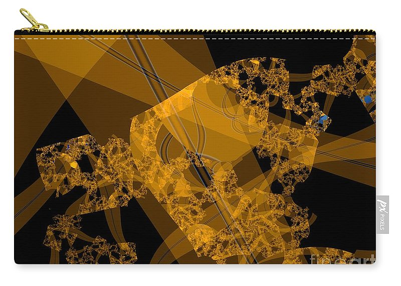Fractal Image Carry-all Pouch featuring the digital art Umber by Ron Bissett