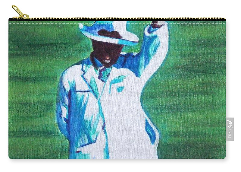 Usha Carry-all Pouch featuring the painting Umpiring by Usha Shantharam