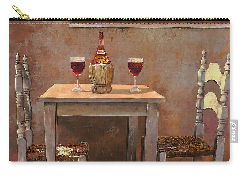 Chianti Carry-all Pouch featuring the painting un fiasco di Chianti by Guido Borelli