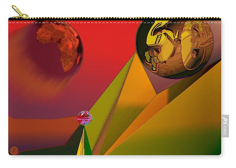 Earth Carry-all Pouch featuring the digital art Unbalanced-the Source Of Violence by Helmut Rottler