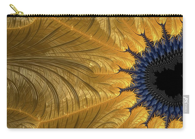 Art Carry-all Pouch featuring the digital art Unbridgeable Chasm by Jeff Iverson
