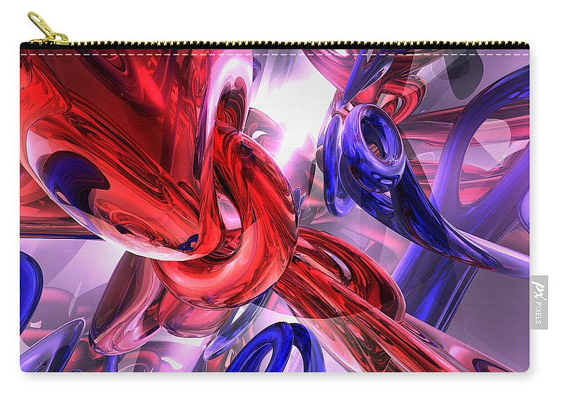 3d Carry-all Pouch featuring the digital art Unchained Abstract by Alexander Butler