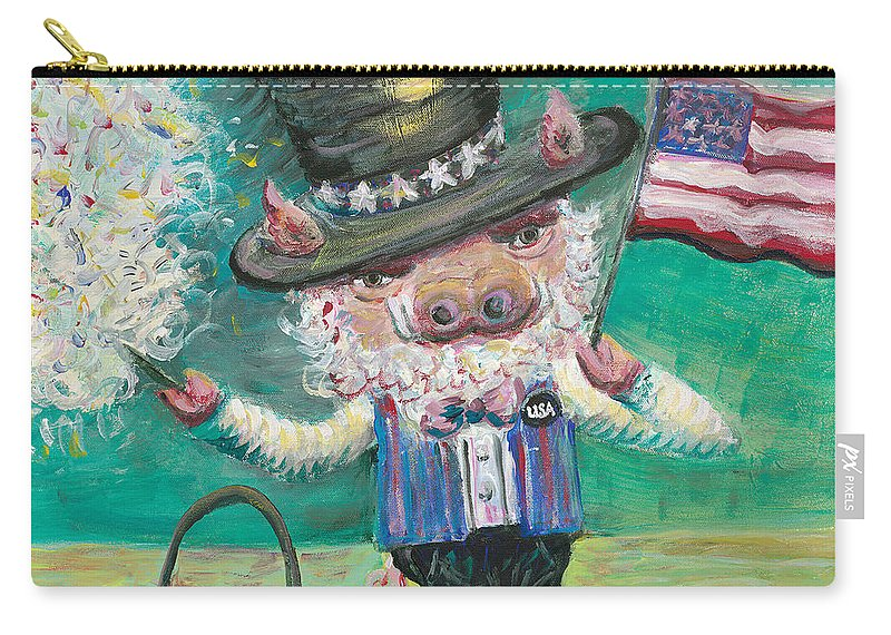 Fourth Of July Carry-all Pouch featuring the painting Uncle Spam by Nadine Rippelmeyer