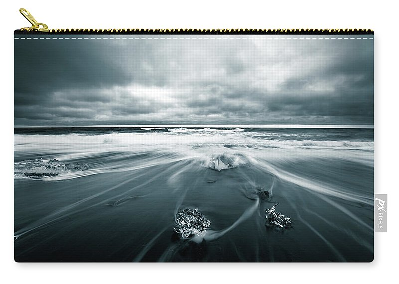 Landscape Carry-all Pouch featuring the photograph Uncut Diamonds by Siddhartha De