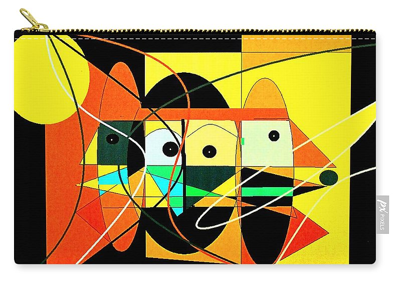 Abstract Carry-all Pouch featuring the digital art Under A Mid Day Sun by Ian MacDonald