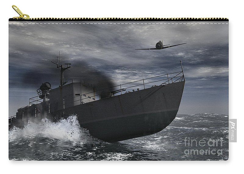 War Carry-all Pouch featuring the digital art Under Attack by Richard Rizzo