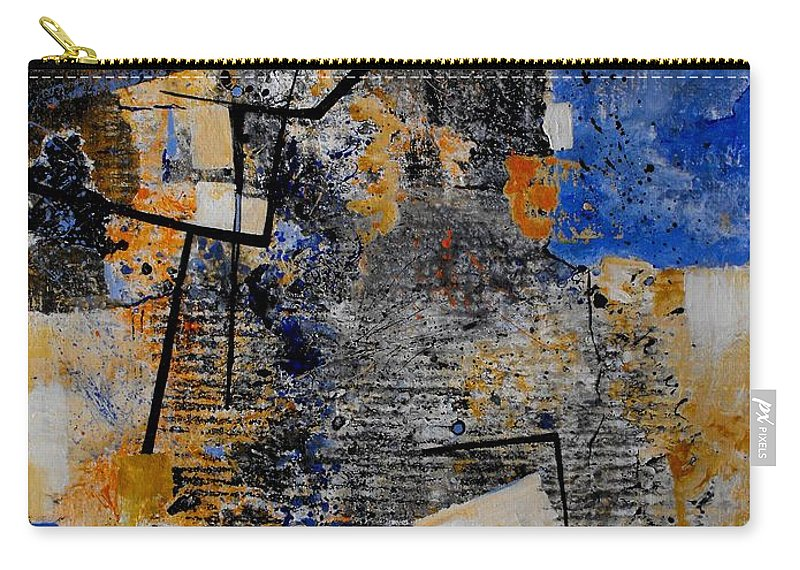 Abstract Carry-all Pouch featuring the painting Under Construction by Ruth Palmer