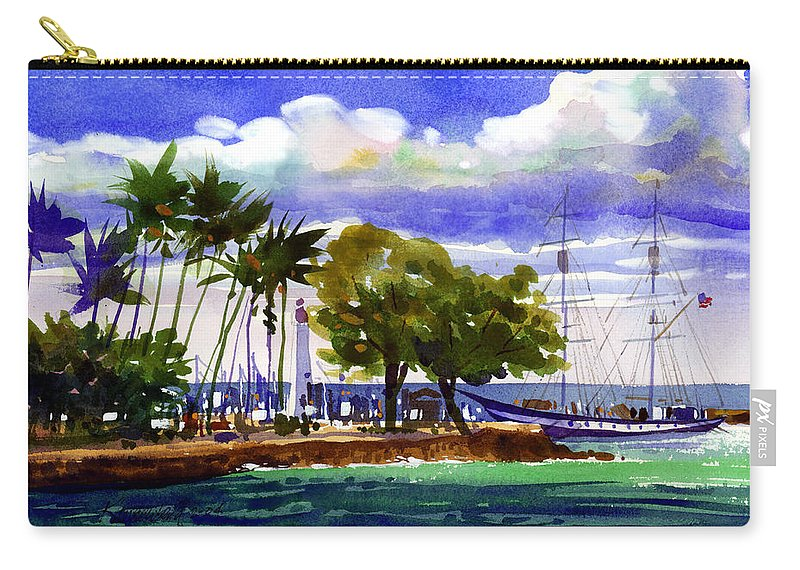 Maui Carry-all Pouch featuring the painting Under Maui Skies by Lee Klingenberg