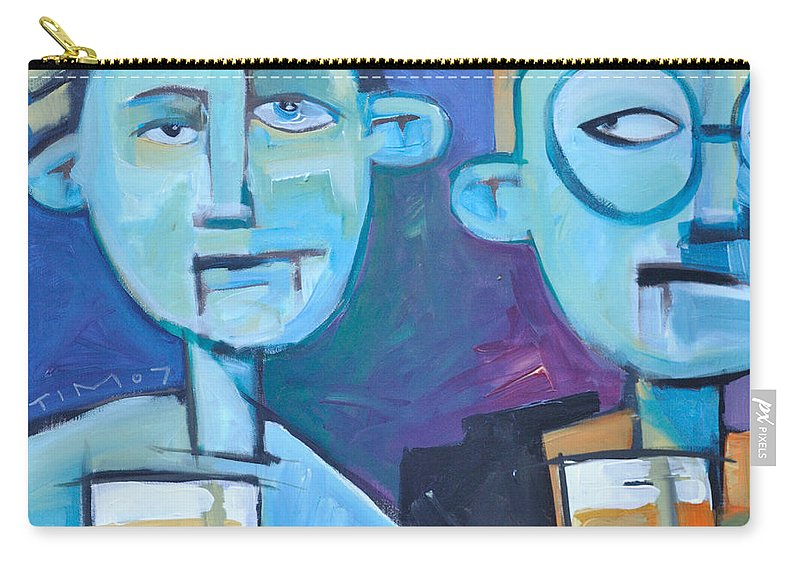 Men Carry-all Pouch featuring the painting Under Scrutiny by Tim Nyberg