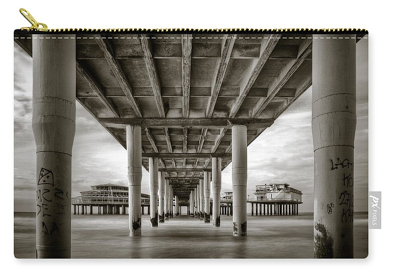 Pier Carry-all Pouch featuring the photograph Under The Boardwalk by Dave Bowman