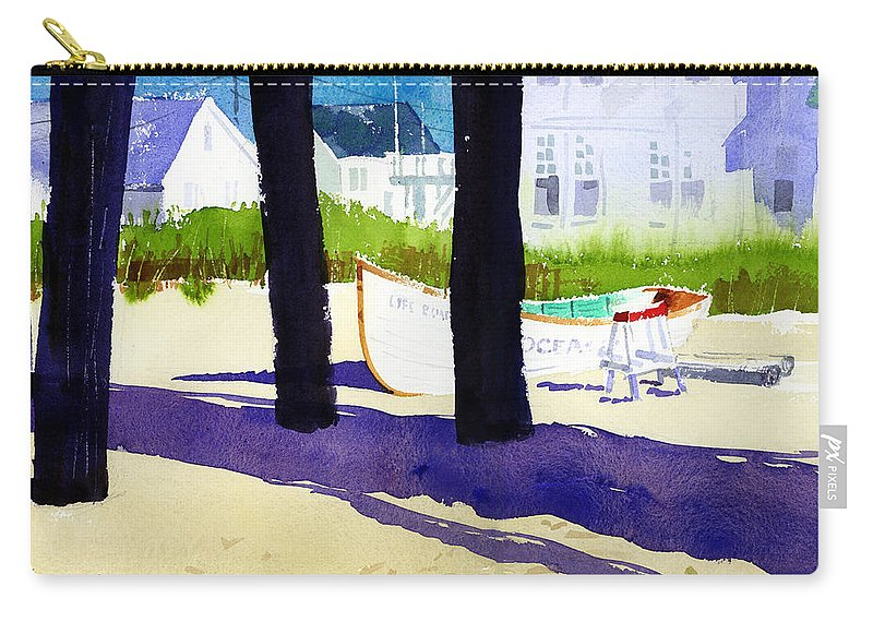 Ocean City Carry-all Pouch featuring the painting Under The Boardwalk by Lee Klingenberg