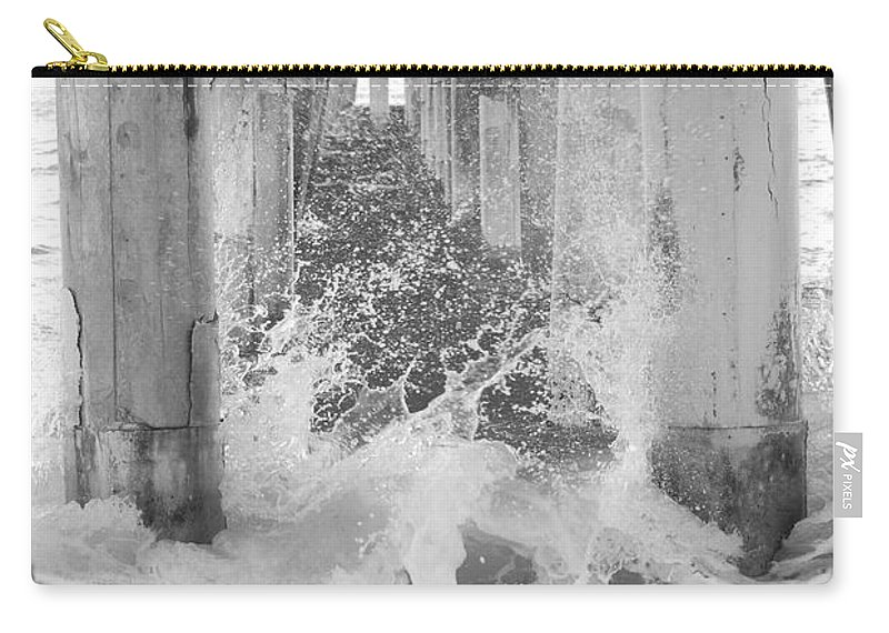 Black And White Carry-all Pouch featuring the photograph Under The Boardwalk by Rob Hans