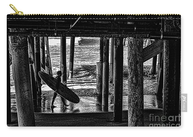 Warf Carry-all Pouch featuring the photograph Under The Boardwalk by Tommy Anderson