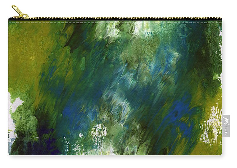 Abstract Carry-all Pouch featuring the painting Under The Canopy- Abstract Art By Linda Woods by Linda Woods