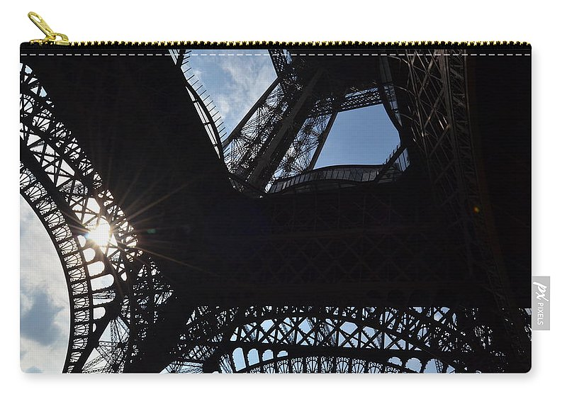 Eiffel Tower Carry-all Pouch featuring the photograph Under The Eiffel II by Dawn Crichton