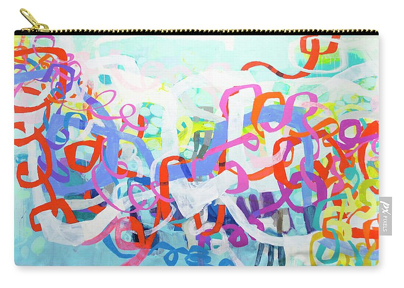 Abstract Carry-all Pouch featuring the painting Under The Electric Candelabra by Claire Desjardins