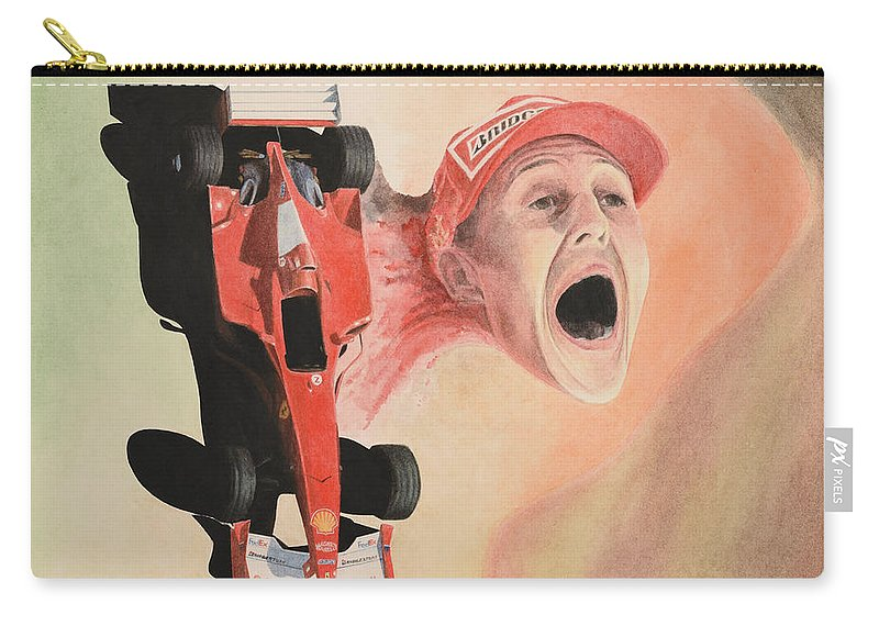 Formula One Carry-all Pouch featuring the painting Under The Nose by Oleg Konin