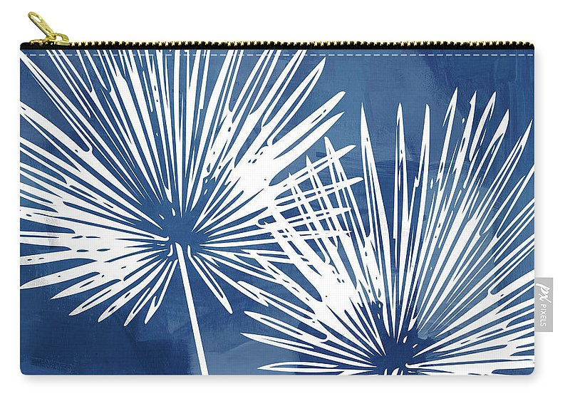 Tropical Carry-all Pouch featuring the mixed media Under The Palms- Art by Linda Woods by Linda Woods