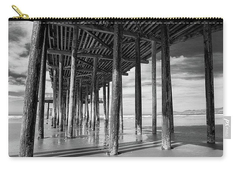 Pier Carry-all Pouch featuring the photograph Under The Pismo Pier by Art Wager