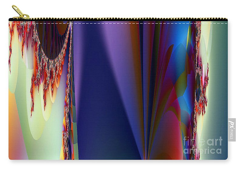 Clay Carry-all Pouch featuring the digital art Under The Rainbow by Clayton Bruster