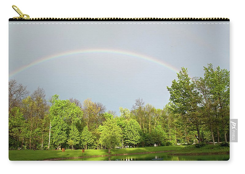 Rainbow Carry-all Pouch featuring the photograph Under The Rainbow by David Arment