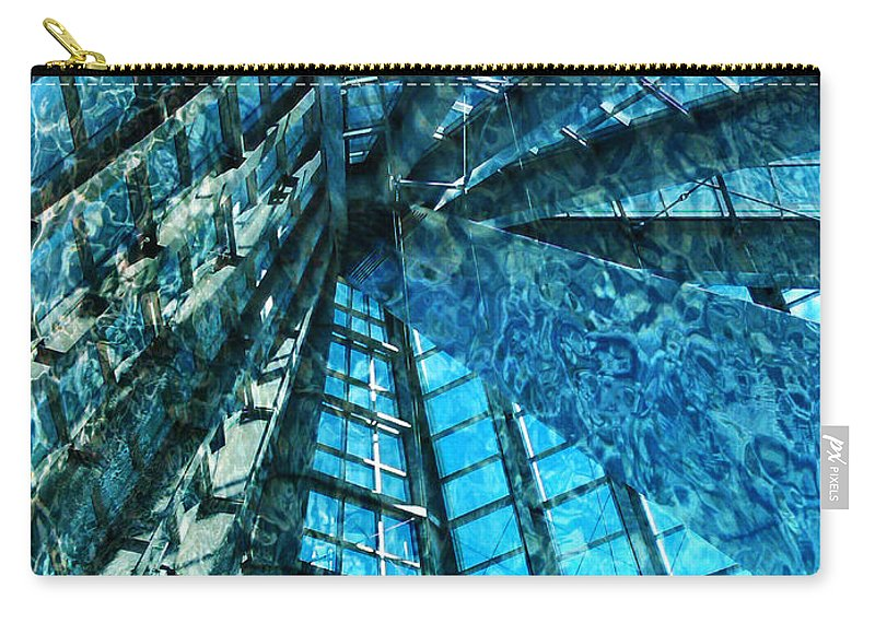 Under The Sea Dwelling Abstract Carry-all Pouch featuring the photograph Under The Sea Dwelling Abstract by Sandi OReilly