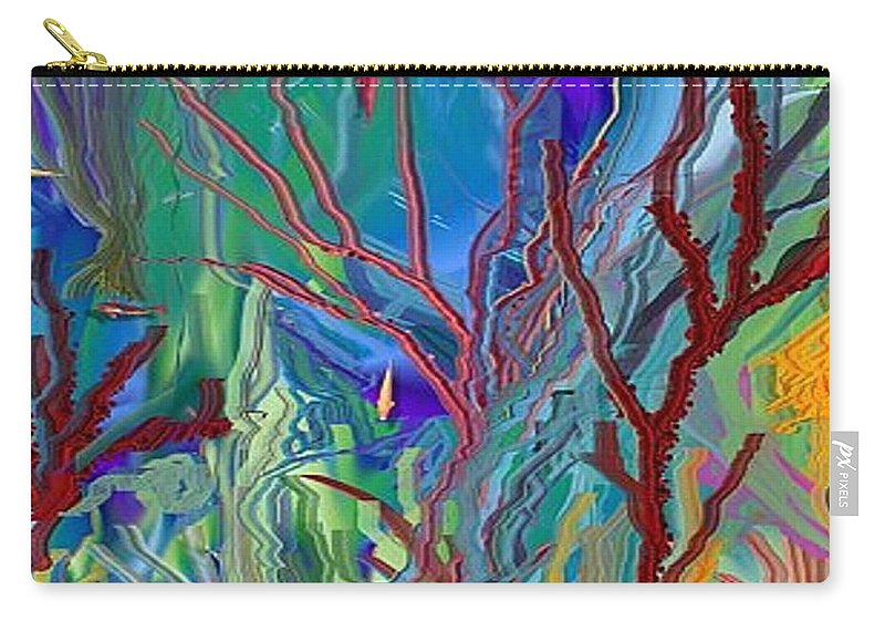 Sea-anenomies Carry-all Pouch featuring the digital art Under The Sea by Susan Oliver