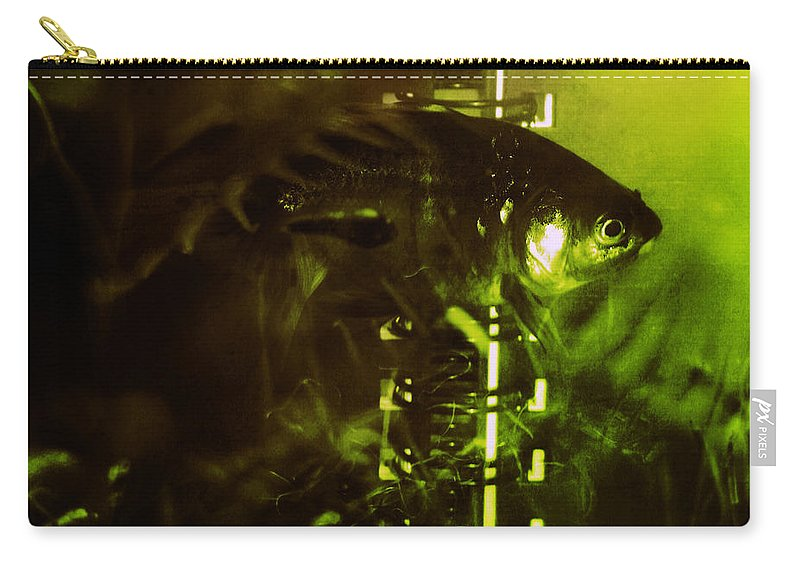 Goldfisg Carry-all Pouch featuring the photograph Under The Water by Angel Ciesniarska