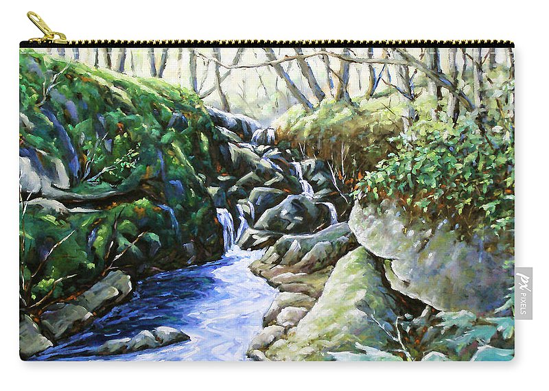 Peintre Carry-all Pouch featuring the painting Under Wood 02 by Richard T Pranke