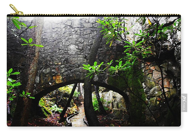 Rock City Carry-all Pouch featuring the photograph Underpass by Lori Mahaffey