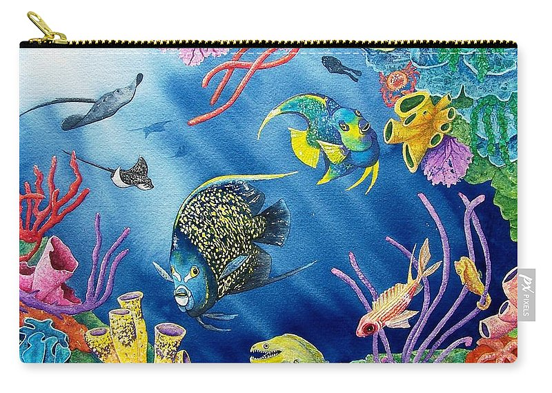 Undersea Carry-all Pouch featuring the painting Undersea Garden by Gale Cochran-Smith