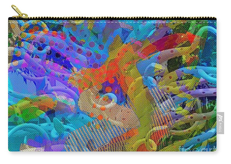 Abstract Carry-all Pouch featuring the digital art Underwater by Cooky Goldblatt