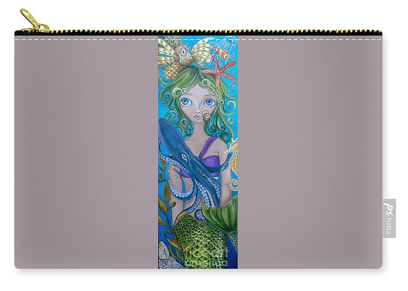 Underwater Carry-all Pouch featuring the painting Underwater Mermaid by Jaz Higgins